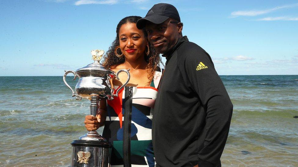 Naomi Osaka y Leonard Francois Osaka