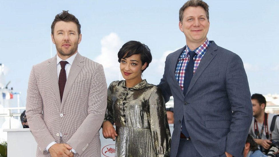 Joel Edgerton, Ruth Negga and director Jeff Nichols in Cannes