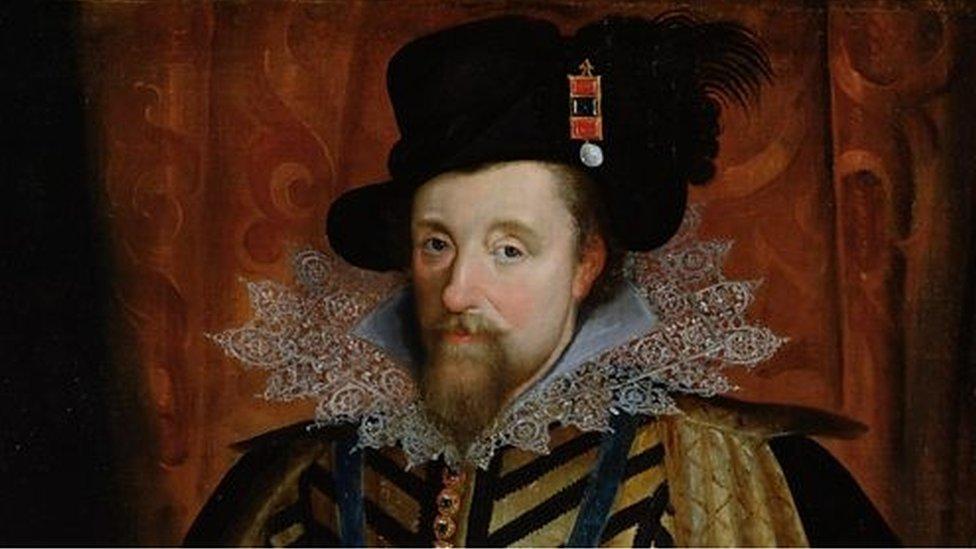 Retrato del rey James VI de Escocia