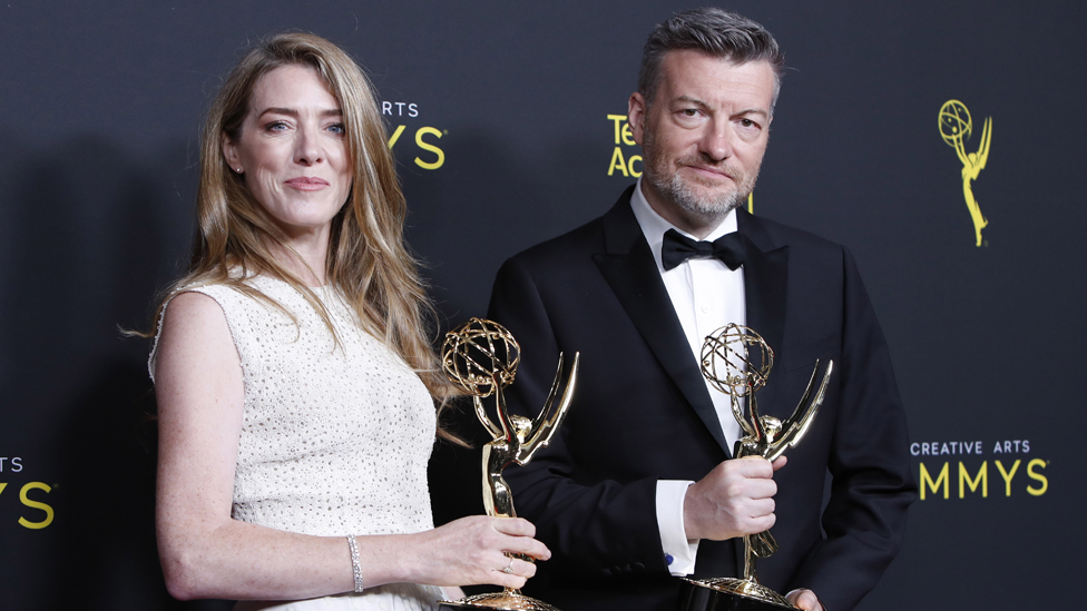 Annabel Jones and Charlie Brooker