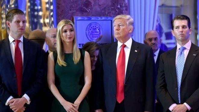 Trump'ın çocukları Ivanka, Eric ve Donald Jr (soldan sağa)