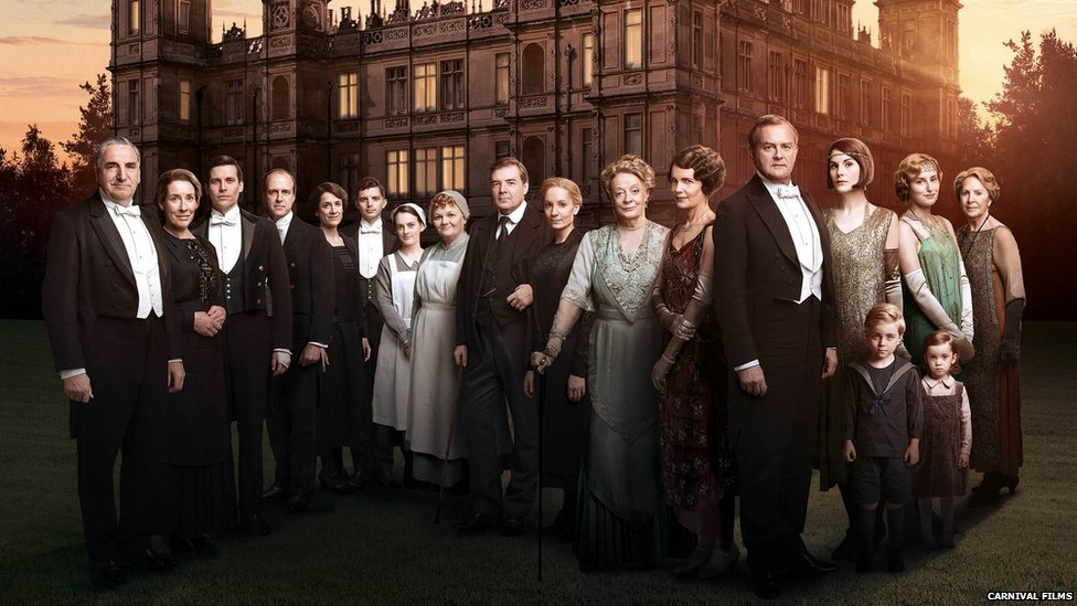 The main cast of series 6 of Downton Abbey