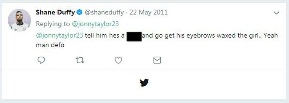 Tweets sent by Shane Duffy