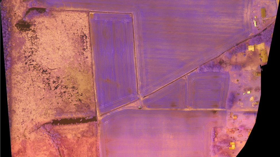 Multispectral image of a field