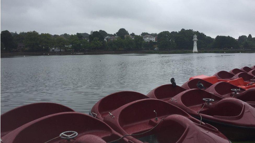Boats on Roath lake