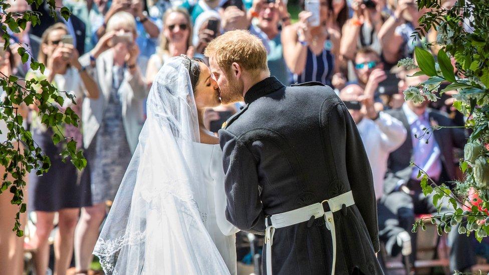 Harry y Meghan el día de su boda