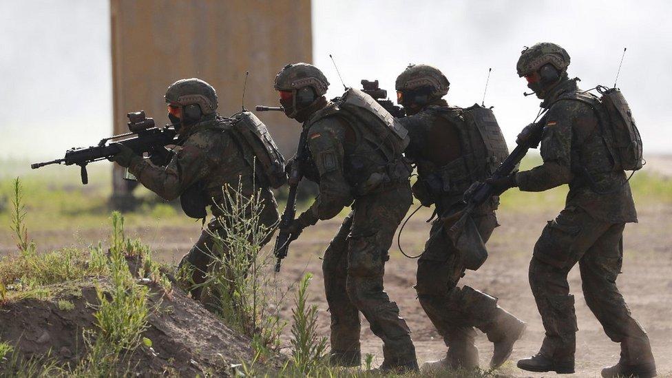 German infantry training - 2 Jun 21 file pic