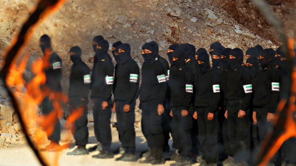 تدريبات للمجندين في إدلب