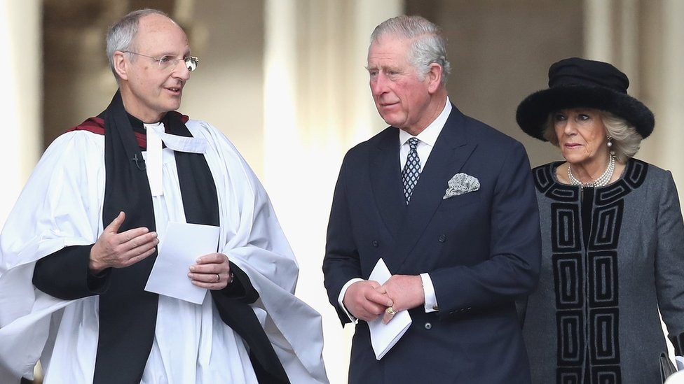 The Prince of Wales and Duchess of Cornwall with the Den of St Paul's