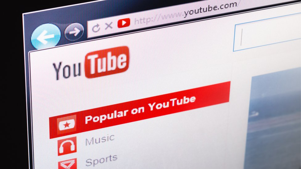 Picture of YouTube screen
