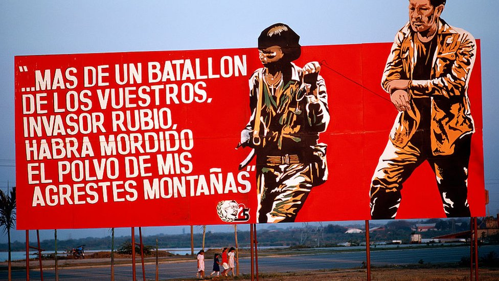 Letrero de propaganda sandinista