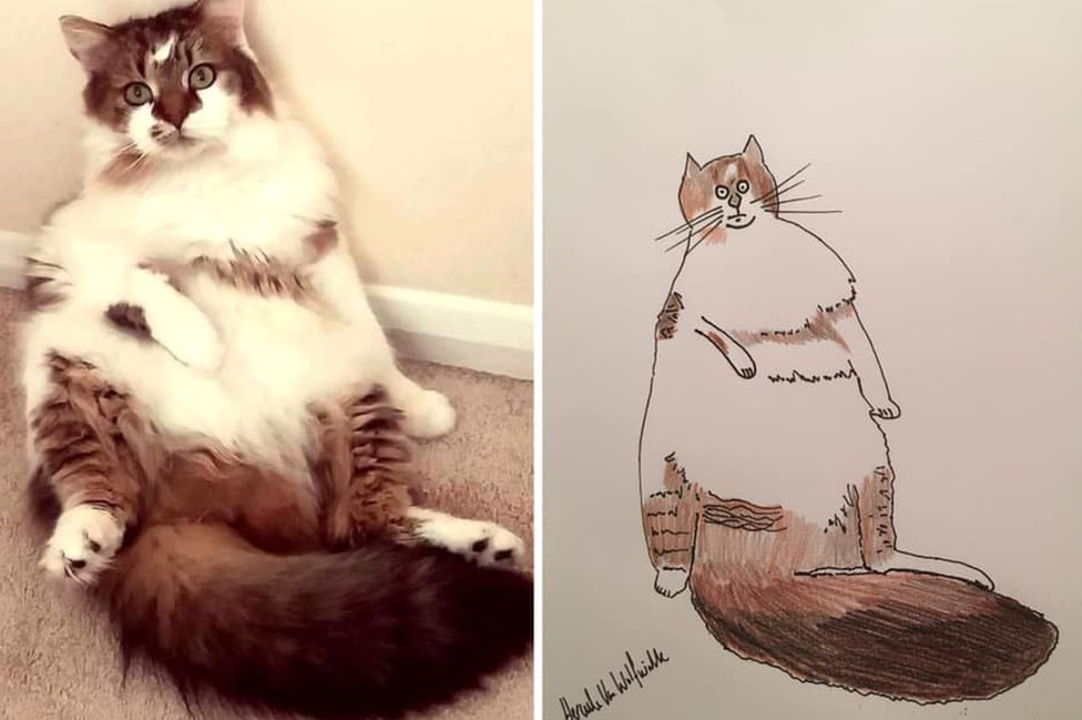 Cartoon of a cat