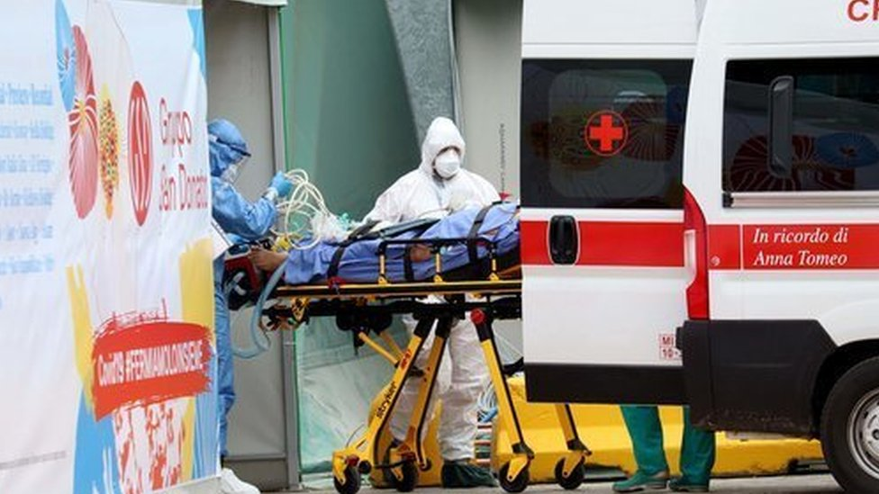 A patient is admitted to hospital in Italy