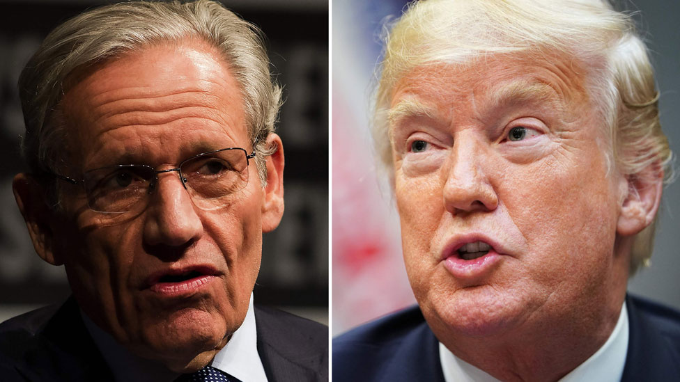 Bob Woodward and Donald Trump composite image