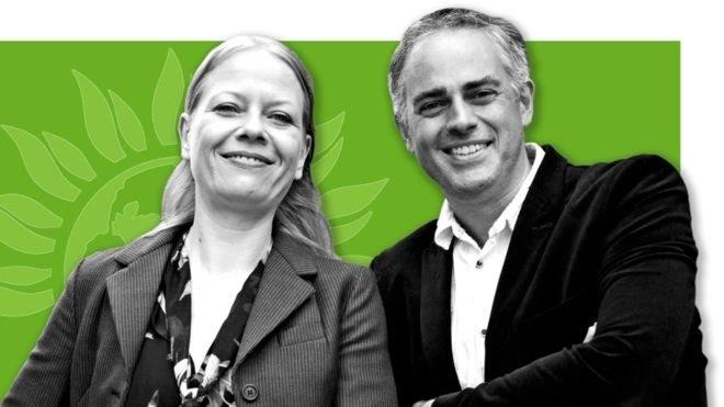 Yeşil Parti Eş Genel Başkanları Sian Berry ve Jonathan Bartle
