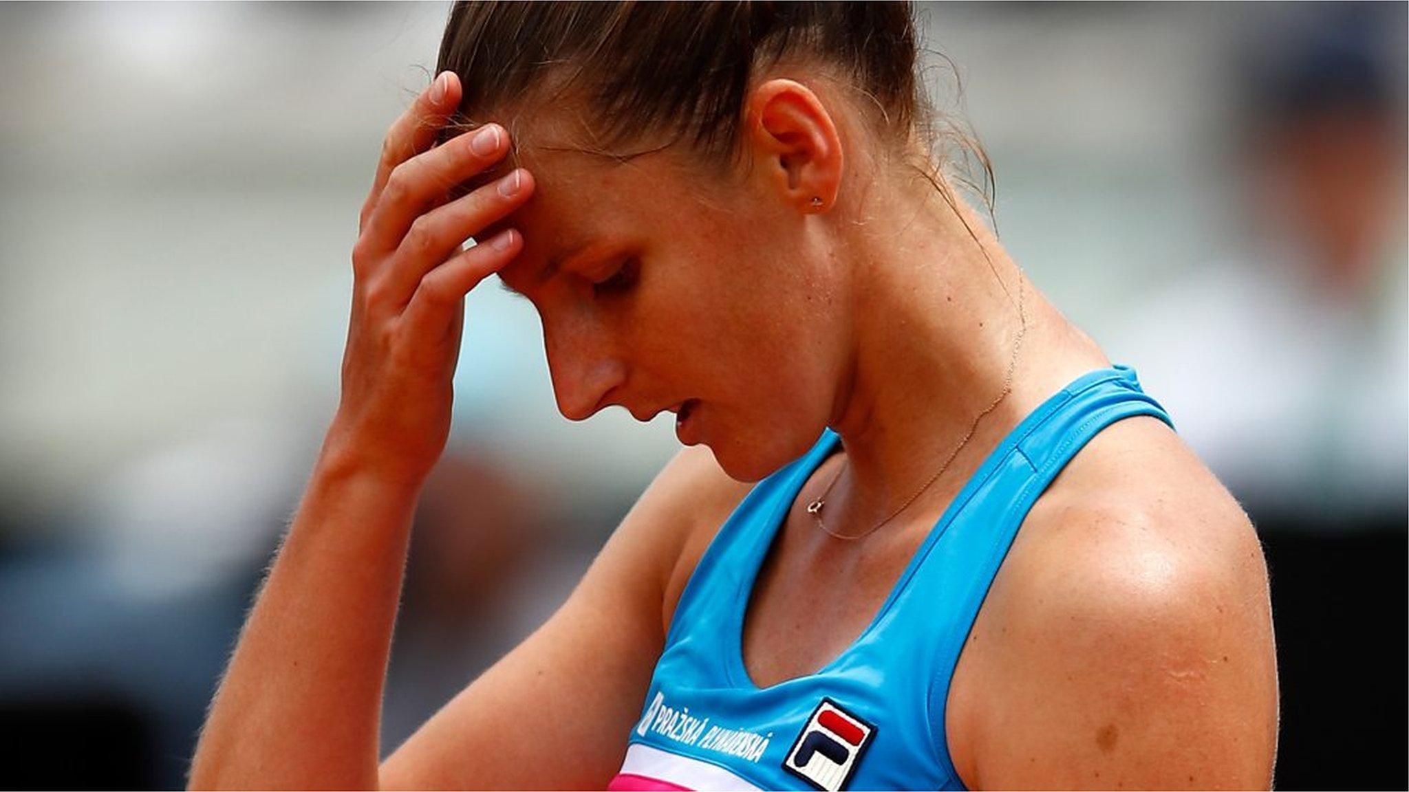Italian Open: Karolina Pliskova attacks umpire's chair after defeat