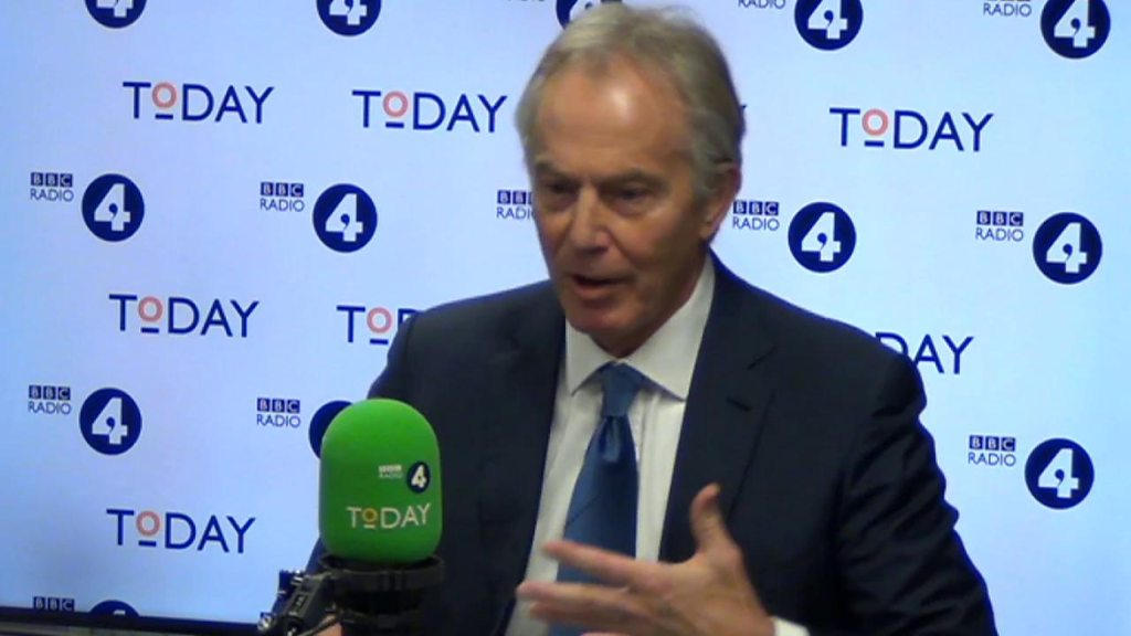 Tony Blair: No deal Brexit 'catastrophic' for UK