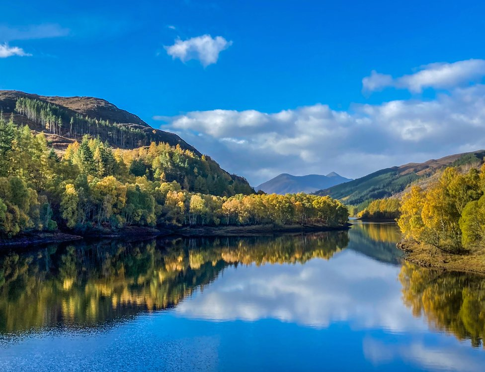 Murdo Aird was in reflective mood when he took photo from the top of Meig Dam at Loch Meig in Strachconon.