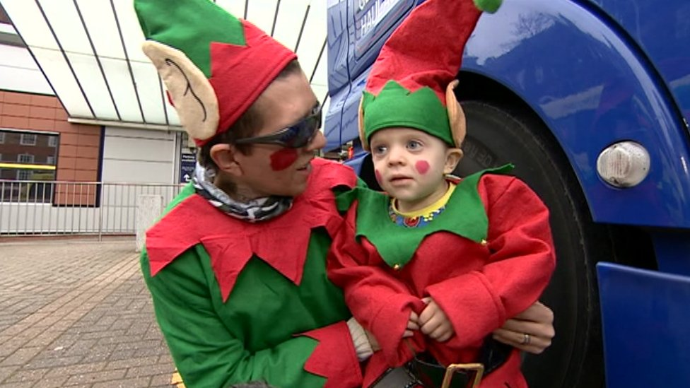Boy delivers presents to Birmingham Children's Hospital