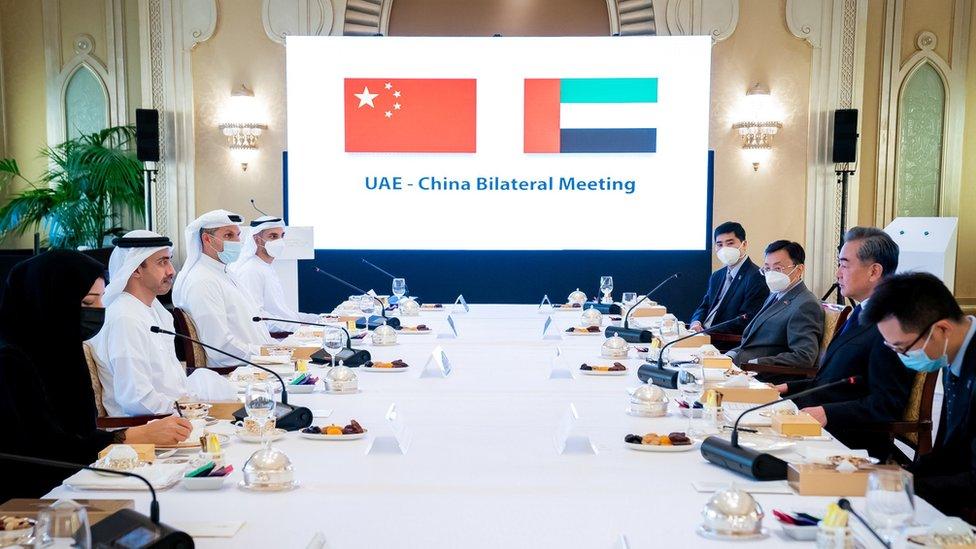 الوفد الصيني في الإمارات