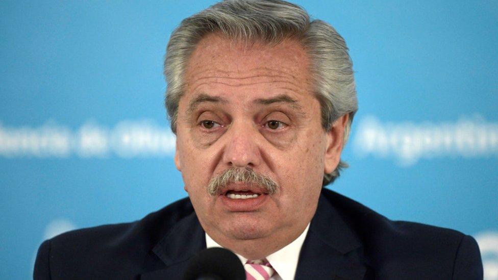 Presidente de Argentina, Alberto Fernández.