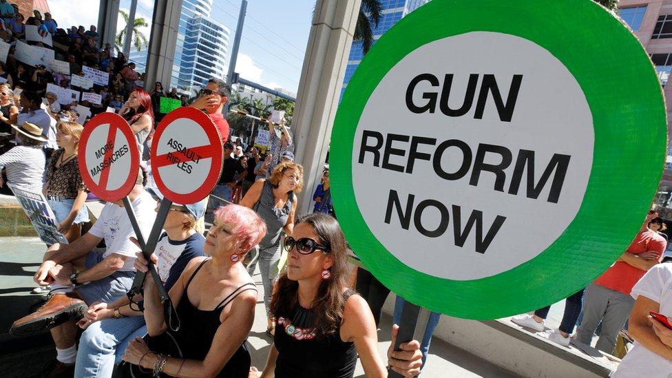 متظاهرون أمريكيون يطالبون بإصلاح قواعد حيازة الأسلحة