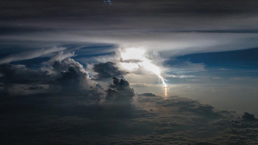Nubes iluminadas