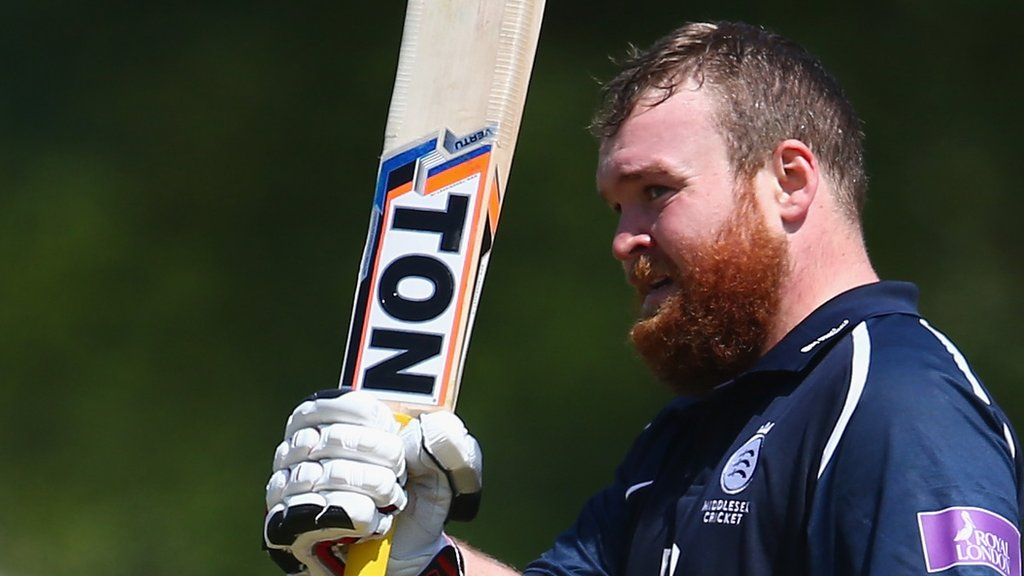 One-Day Cup: Paul Stirling leads Middlesex to win over Kent