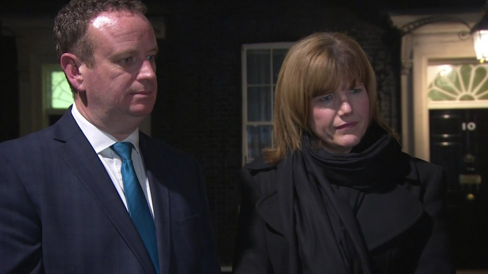 Stephen Kelly from Manufacturing NI and Claire Guinness from Warrenpoint Harbour were at the meeting in Downing Street