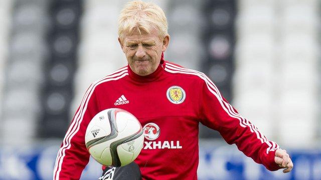 Scotland coach Gordon Strachan