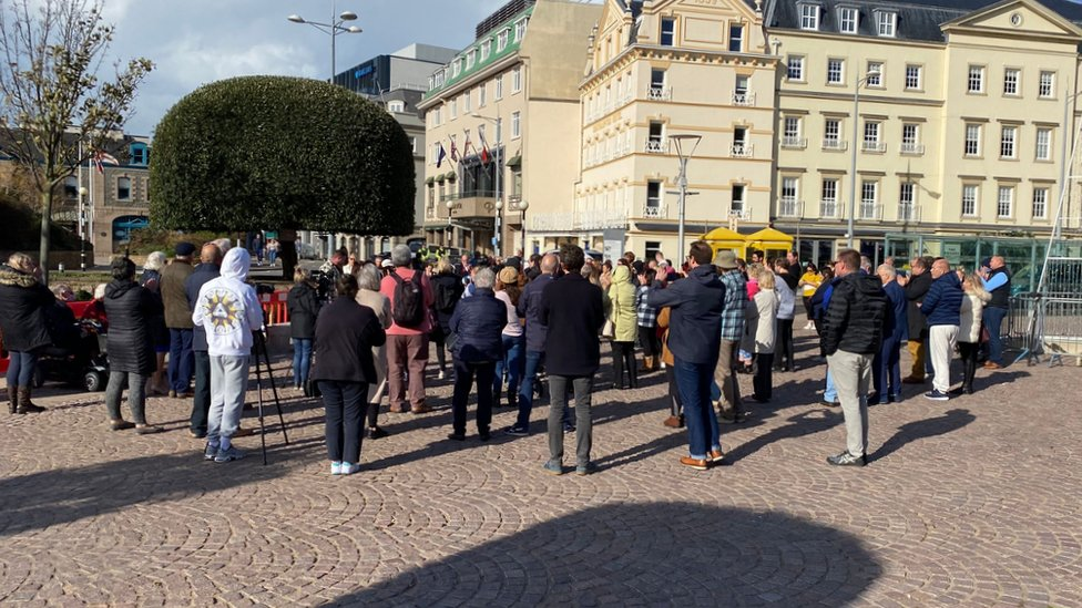 Abuse memorial protest