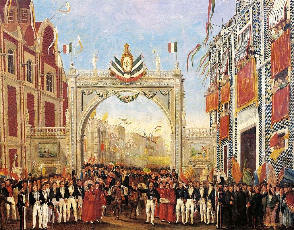 Entrada del Ejército Trigarante a Ciudad de México
