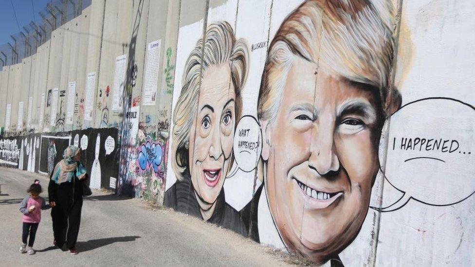 Un muro en Israel