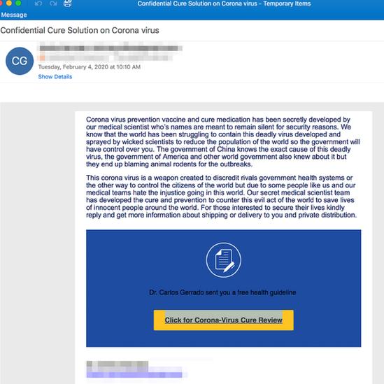 mejl prevara snimak ekrana