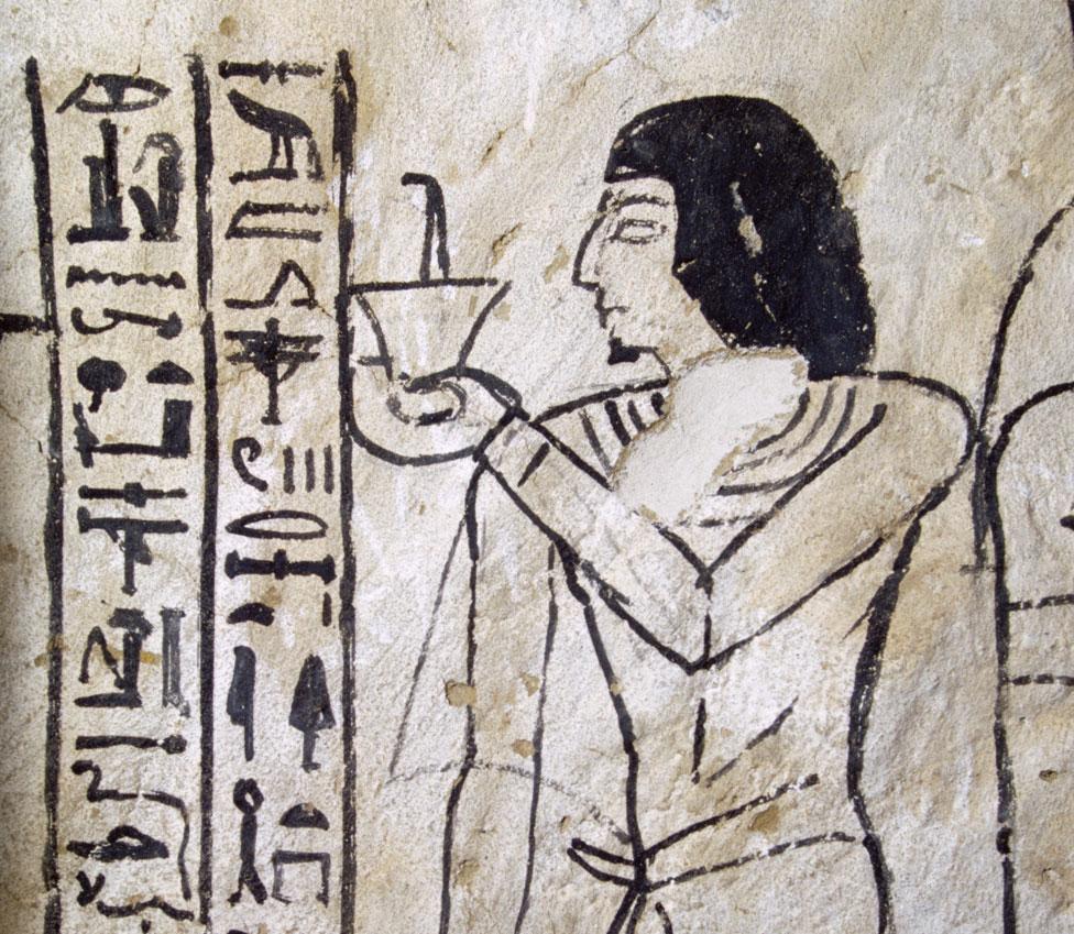 Una imagen del Libro de los muertos, hallado en Abusir.