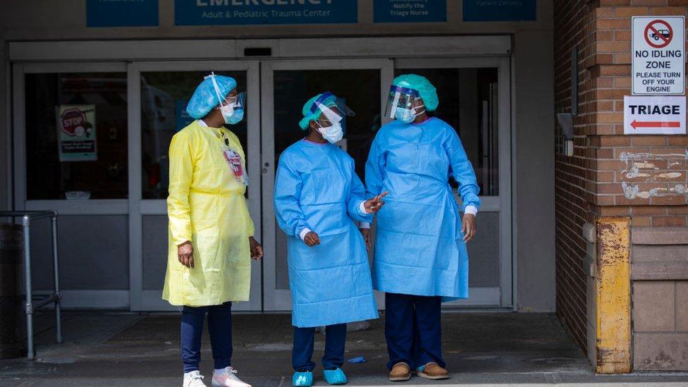 Enfermeras en Nueva York