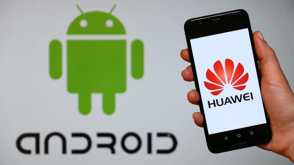 Huawei y logo de Androi