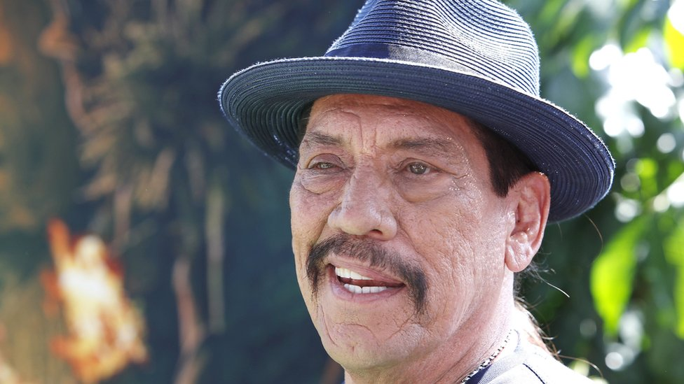 """US actor Danny Trejo arrives for the premiere of """"Dora and the Lost City of Gold"""" in Los Angeles on 28 July 2019."""