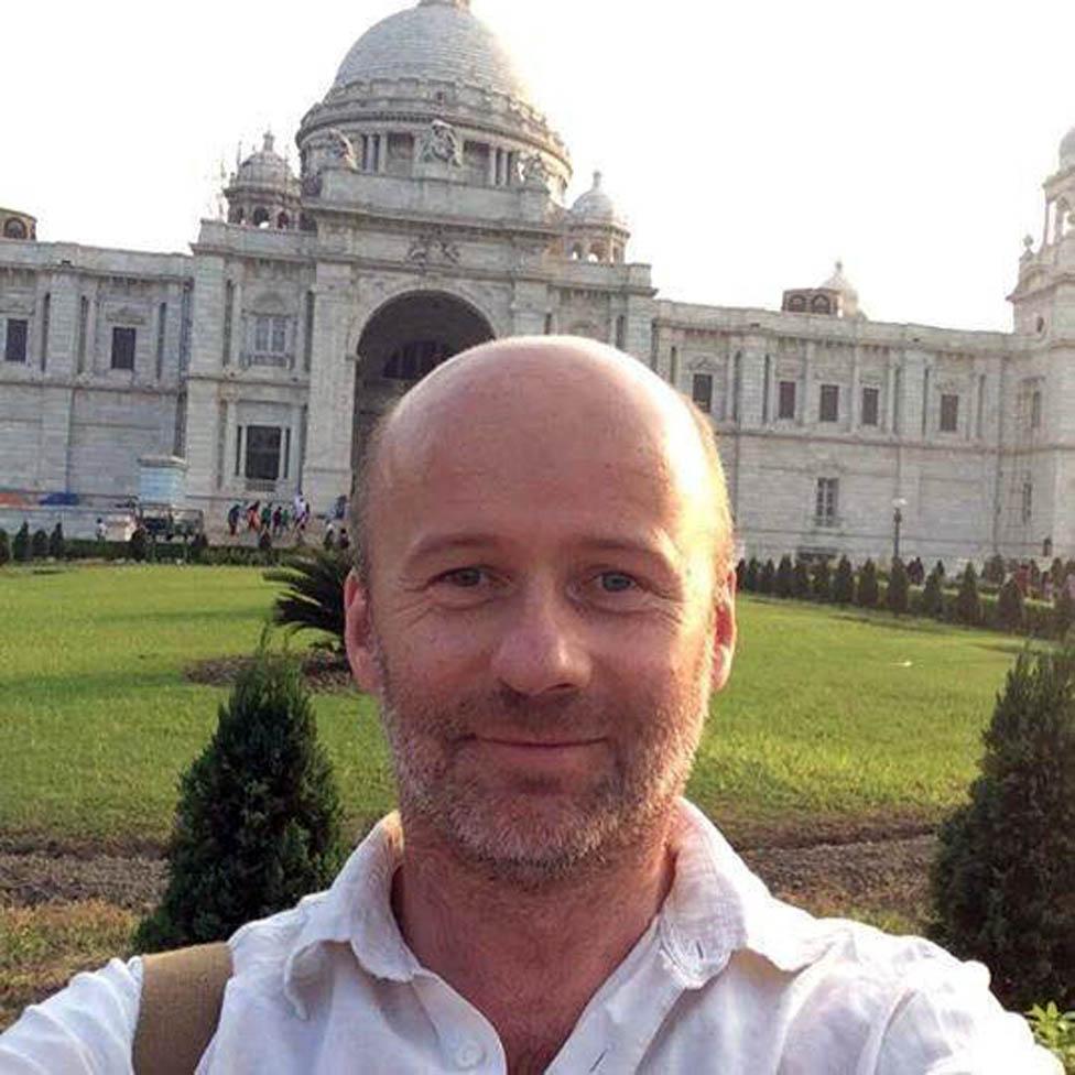 Matt en India.