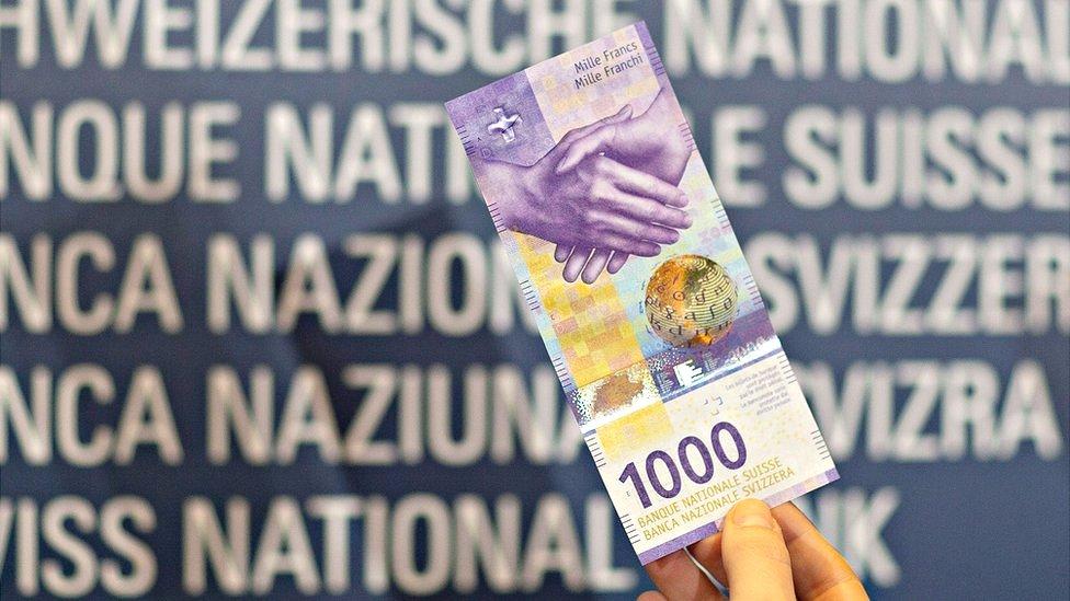 El billete de 1.000 francos