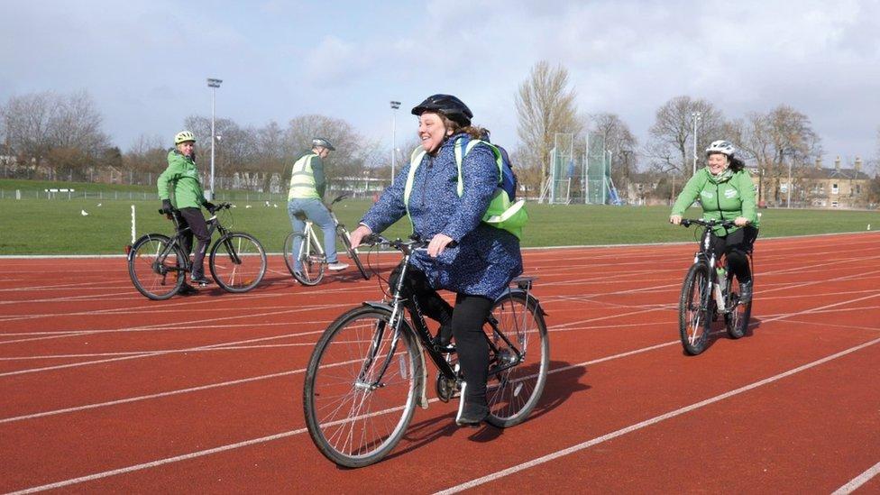 Andrea cycling