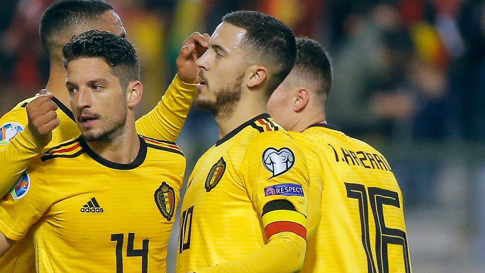 Belgium 3-1 Russia: Eden Hazard scores twice in Euro 2020 qualifier