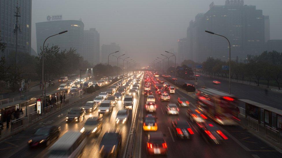 Autopista circular en Pekín, China