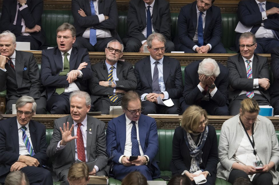 MPs listen in the House of Commons