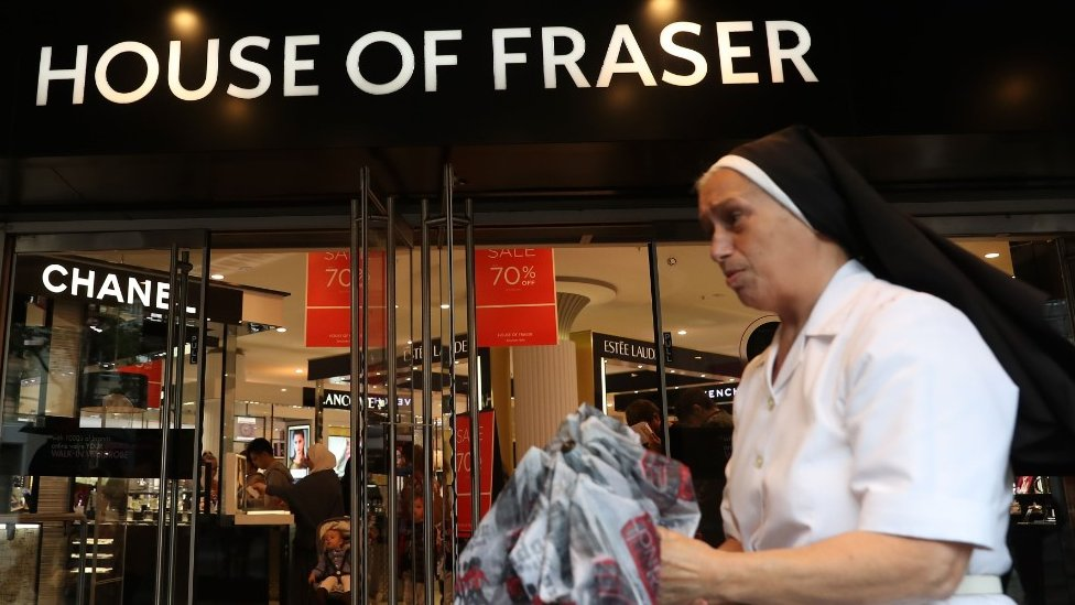 House of Fraser warehouse jobs at risk, union says