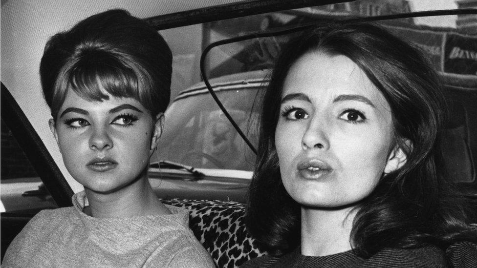 Mandy Rice Davies and Christine Keeler, 1963