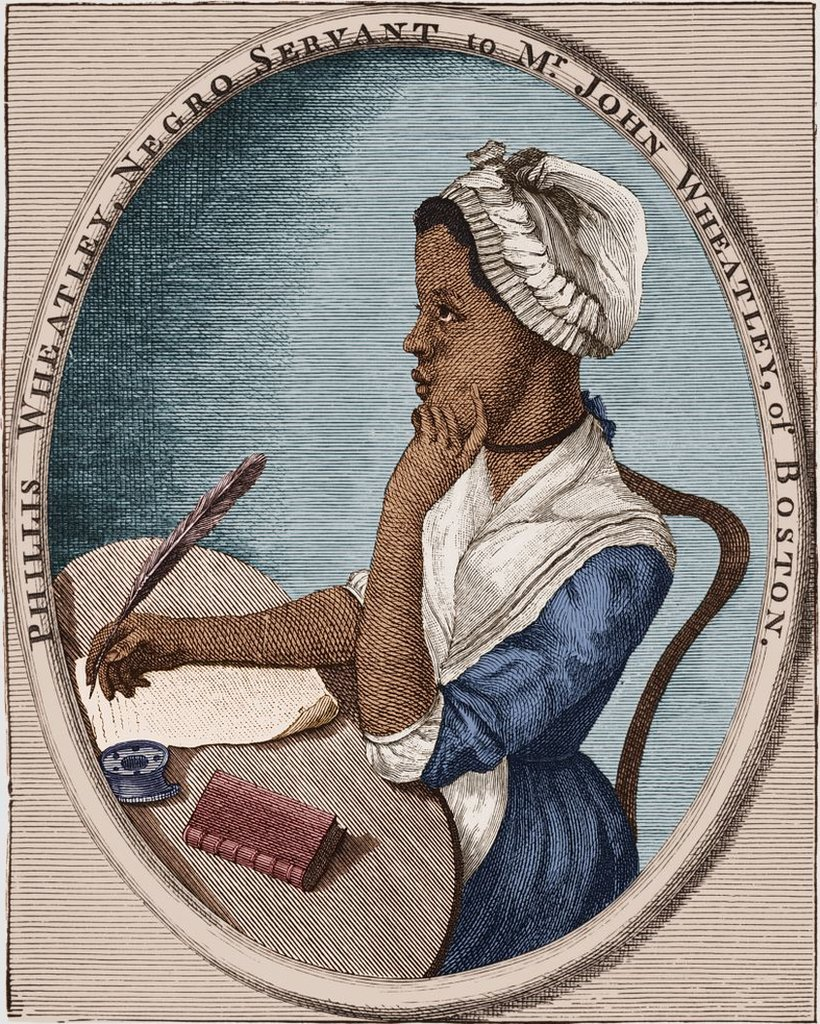 Pintura de la poeta afroestadounidense Phillis Wheatley