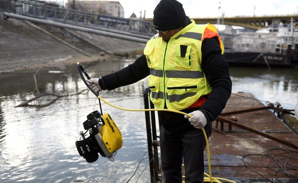 Jevrejski ronilac na Dunavu, 15. januar 2019.