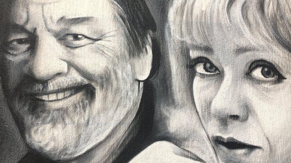 Mural u Nevesinjskoj, Dragan Nikolić i Milena Dravić