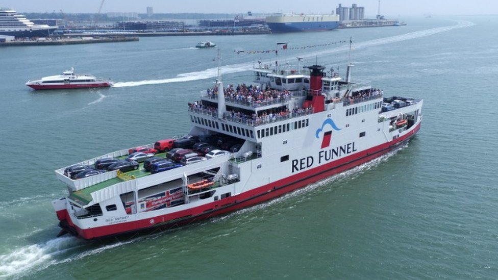 Red Funnel vessels